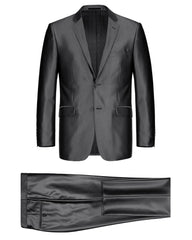 Luster Slim Fit Suit in Charcoal - Rainwater's