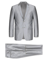 Luster Silver Grey Suit Rental - Rainwater's Men's Clothing and Tuxedo Rental