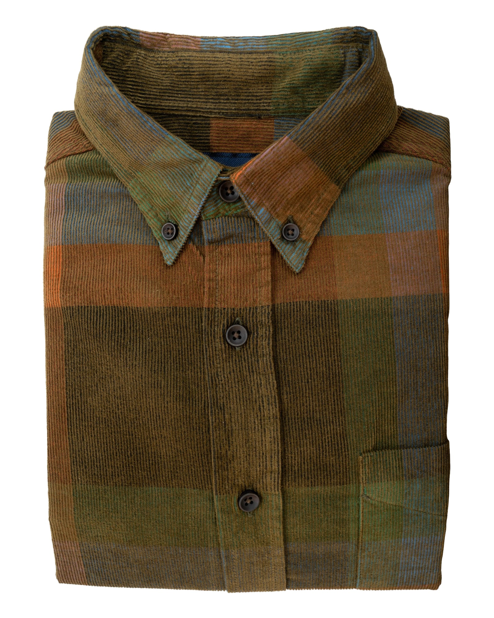Moss Grid Plaid Button Up Long Sleeve Shirt - Rainwater's Men's Clothing and Tuxedo Rental