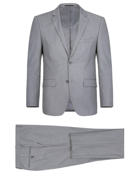 Rainwater's Fine tropical weight man made fabric Light Grey Slim Fit Suit - Rainwater's Men's Clothing and Tuxedo Rental