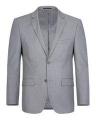 Rainwater's Fine tropical weight man made fabric in Light Grey Classic Fit Suit - Rainwater's Men's Clothing and Tuxedo Rental