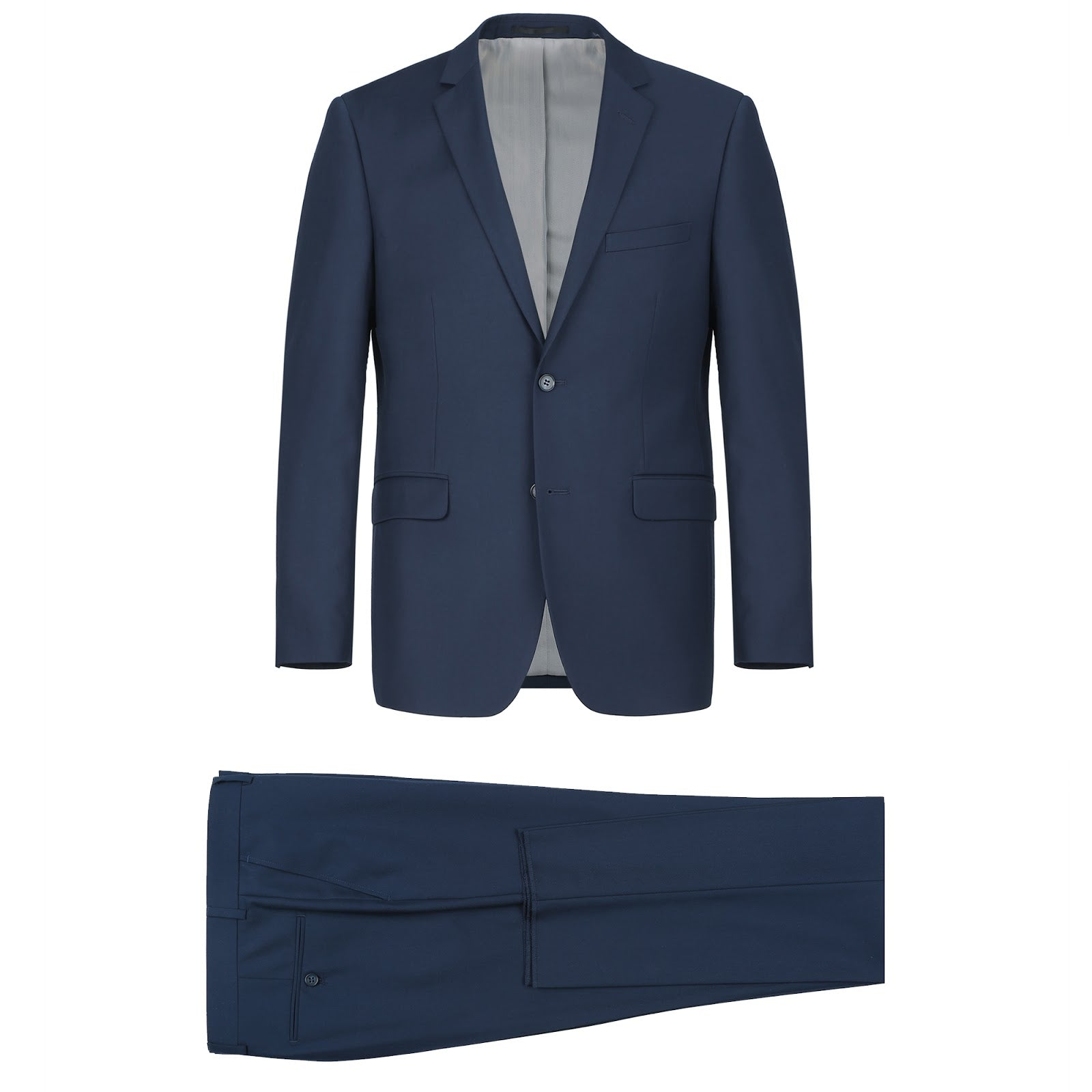 Rainwater's Fine tropical weight man made fabric Navy Slim Fit Suit - Rainwater's Men's Clothing and Tuxedo Rental