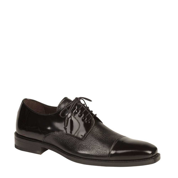 Mezlan Soka Lace-Up Captoe in Black - Rainwater's