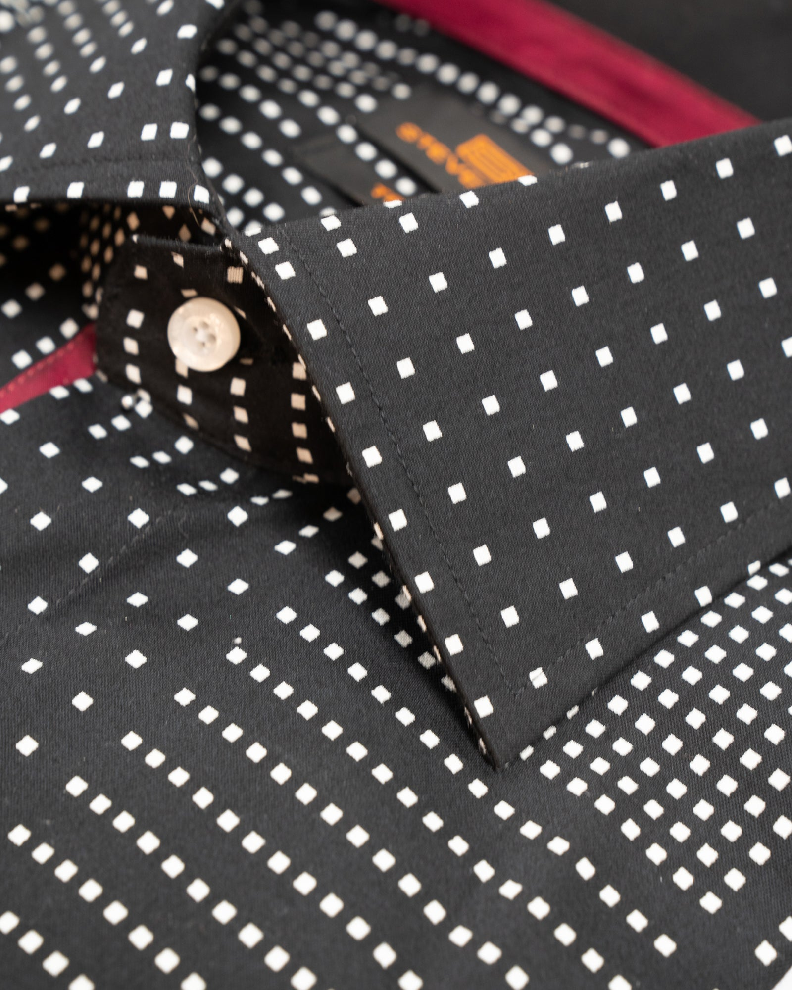 Black Grid Print Spread Collar Sport Shirt - Rainwater's Men's Clothing and Tuxedo Rental