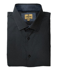 Trend by F/X Fusion Black and Grey Circle Print Sport Shirt - Rainwater's Men's Clothing and Tuxedo Rental