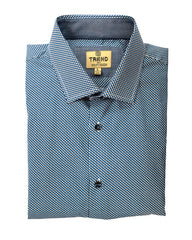 Trend by F/X Fusion Navy and Tan Mosaic Print Sport Shirt - Rainwater's Men's Clothing and Tuxedo Rental