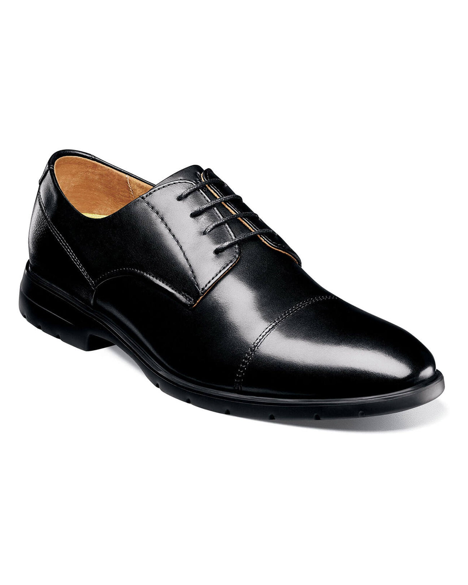 Florsheim Westside Cap Toe Oxford in Black - Rainwater's Men's Clothing and Tuxedo Rental