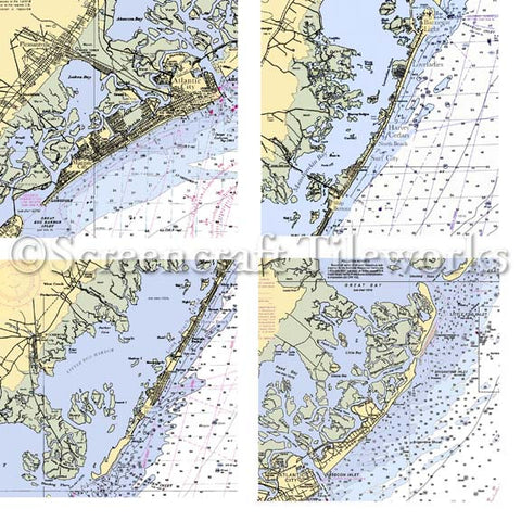 Marble Jersey Shore Map Coasters by screencraft at local housewares store Division IV in Philadelphia, Pennsylvania