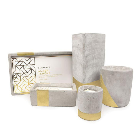 Amber & Smoke Urban Concrete Candle