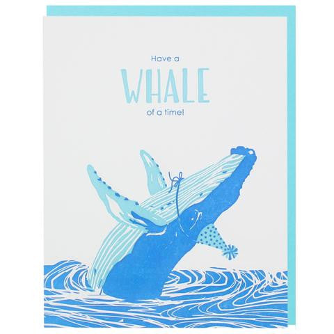 Humpback Wale Birthday Card by Smudge Ink at local housewares store Division IV in Philadelphia, Pennsylvania