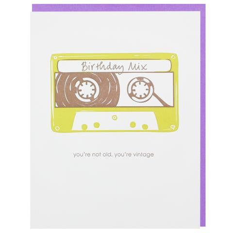 Mixed Tape Birthday Card by Smudge Ink at local housewares store Division IV in Philadelphia, Pennsylvania