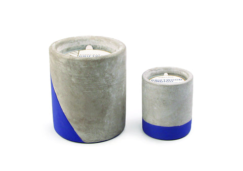 Driftwood & Indigo Urban Concrete Candle by paddywax at local housewares store Division IV in Philadelphia, Pennsylvania
