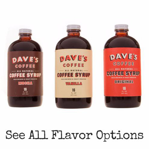 Dave's All Natural Coffee Syrup by dave's coffee at local housewares store Division IV in Philadelphia, Pennsylvania