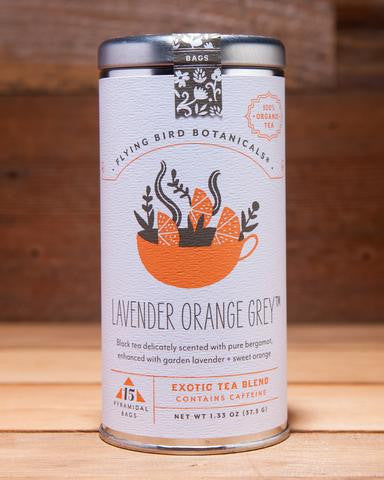 Lavender Orange Grey Tea by Flying Bird Botanical at local housewares store Division IV in Philadelphia, Pennsylvania