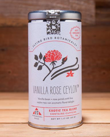 Vanilla Rose Ceylon Tea Bags by Flying Bird Botanical at local housewares store Division IV in Philadelphia, Pennsylvania