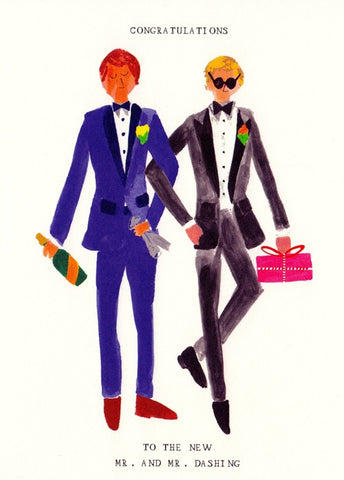 Mr. and Mr. Dashing Greeting Card by Mr. Boddington's Studio at local housewares store Division IV in Philadelphia, Pennsylvania