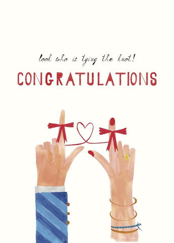Look Who's Tying the Knot Wedding Card by Mr. Boddington's Studio at local housewares store Division IV in Philadelphia, Pennsylvania