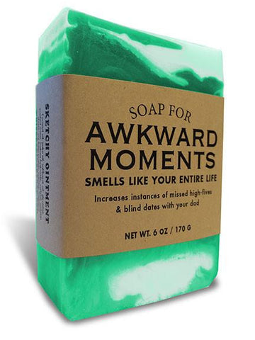 Awkward Moments Soap by Whiskey River Soap Co at local housewares store Division IV in Philadelphia, Pennsylvania