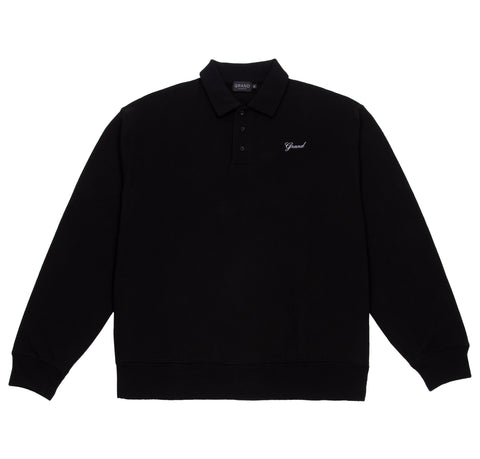 Collared Sweatshirt Black