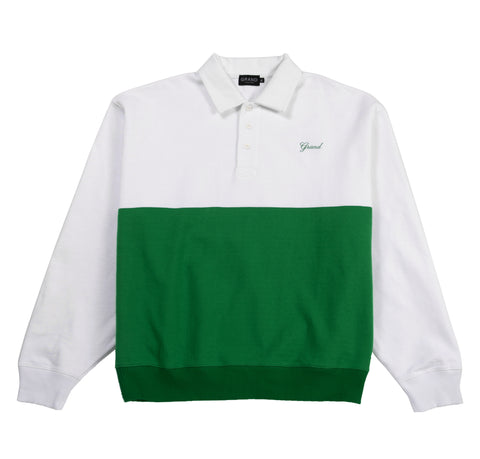 Collared Sweatshirt Kelly Green/White