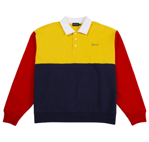 Collared Sweatshirt Navy/Red/Yellow