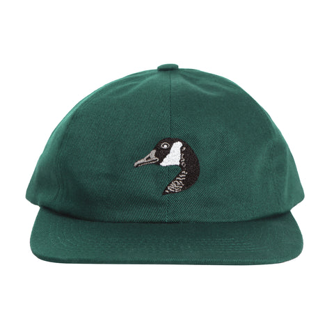 Goose Embroidered Cap Emerald