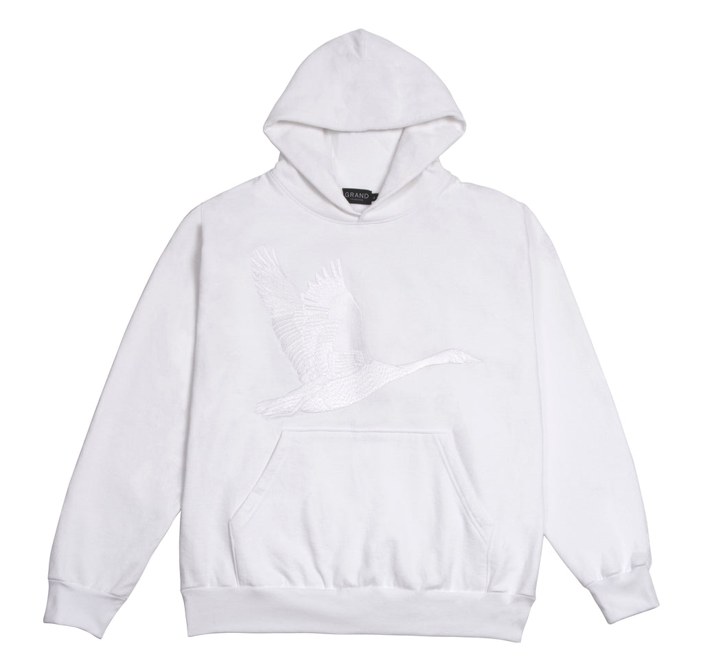 Goose Embroidered Sweatshirt White