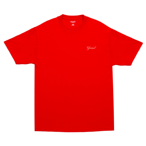 Grand Script Tee Red