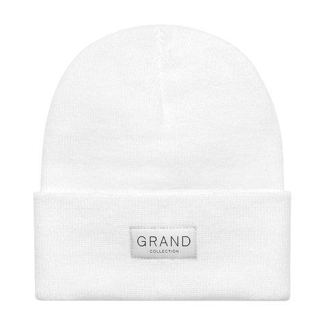 Grand Collection Cuffed Beanie White