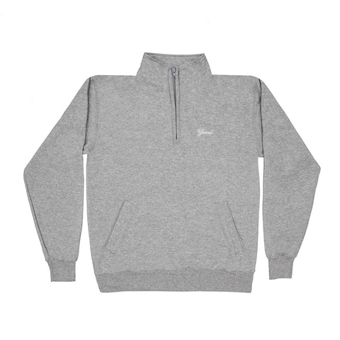 Grand Script Quarter Zip Grey