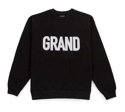 Grand Embroidered Crew Black