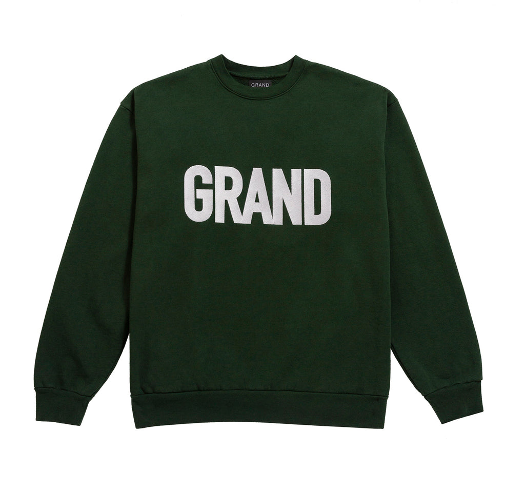Grand Embroidered Crew Forest