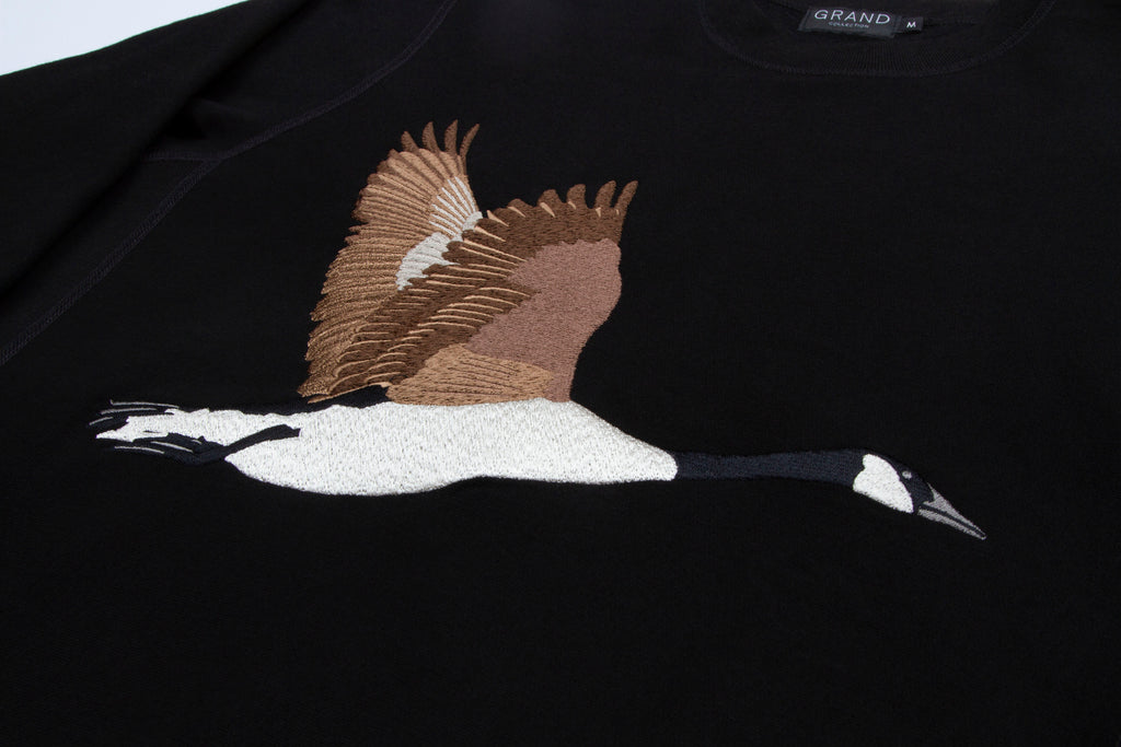 Goose Souvenir Embroidered Crew