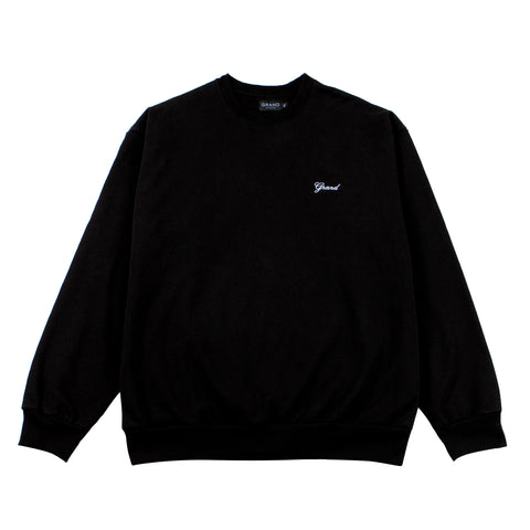 Grand Script Premium Crewneck Black