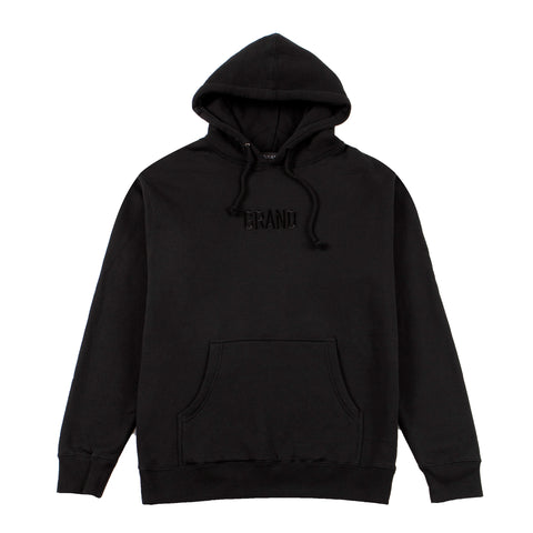 Tonal Embroidered Hoodie Black