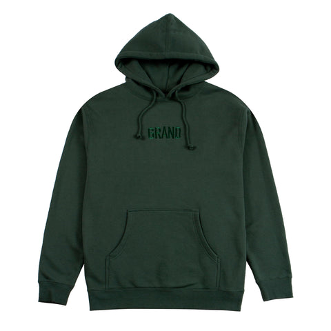 Tonal Embroidered Hoodie Forest