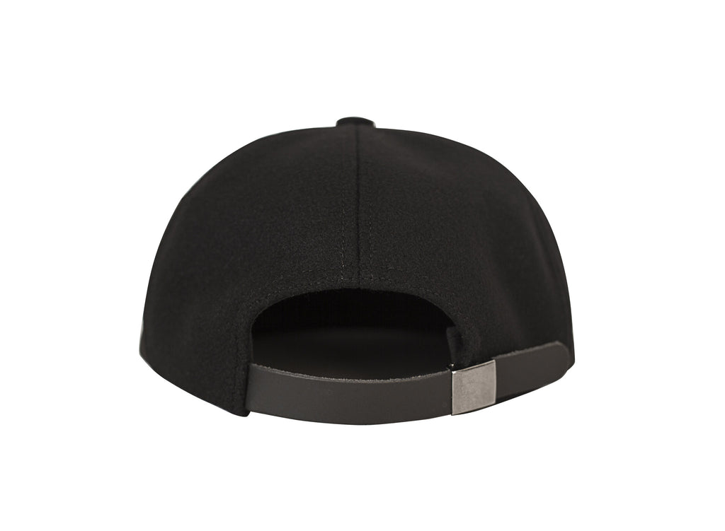 MELTON WOOL CAP BLACK