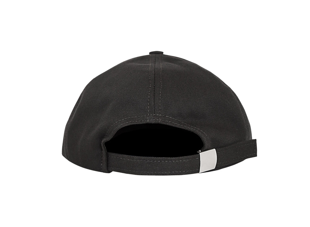 GRAND SCRIPT 6 PANEL BLACK CAP