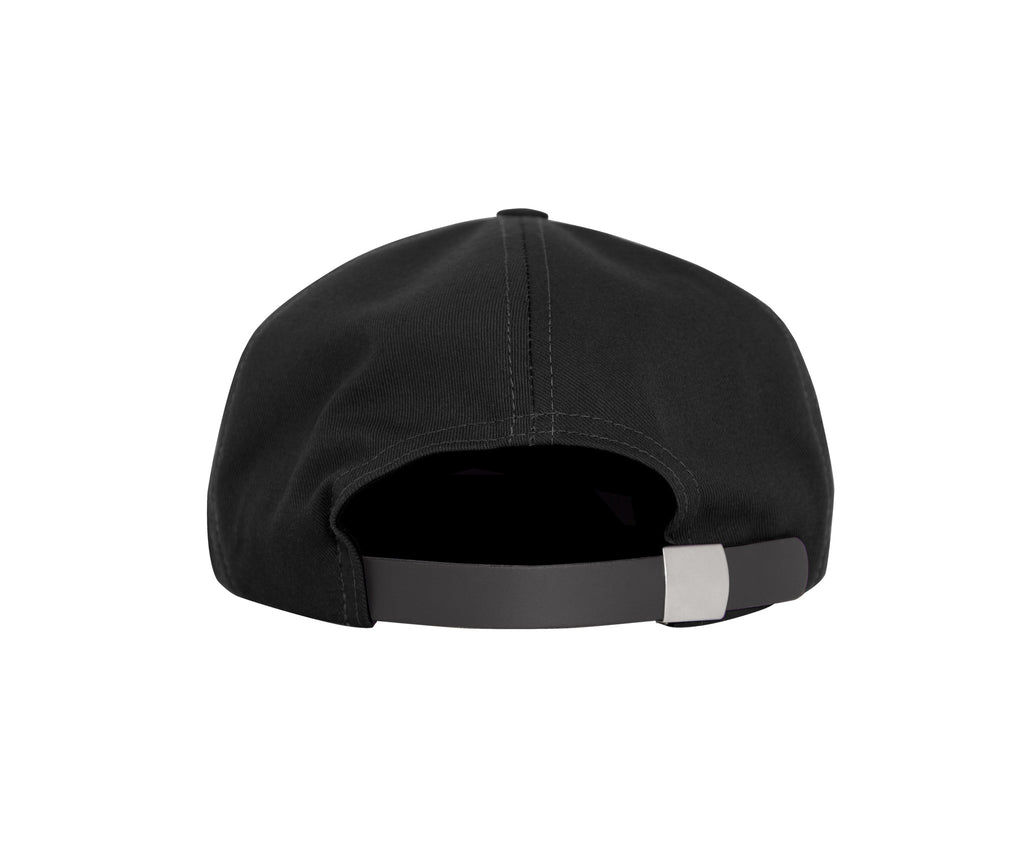 Grand Script 6 Panel Cap Black