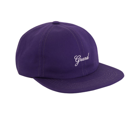 Grand Script 6 Panel Cap Purple