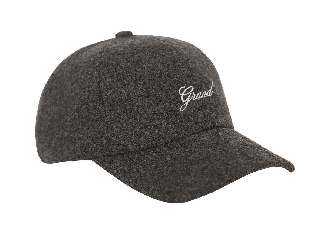 GRAND SCRIPT CHARCOAL MELTON WOOL