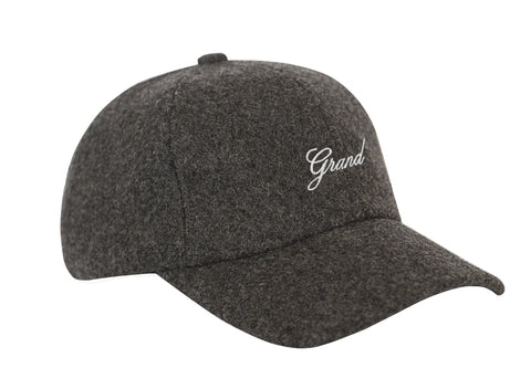 MELTON WOOL CAP CHARCOAL