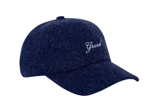 MELTON WOOL CAP NAVY