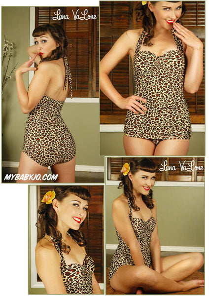 One Piece Classic Sheath Leopard Swimsuit