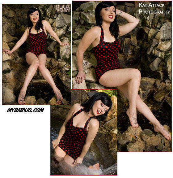 One Piece Classic Sheath Vamp Swimsuit Clearance