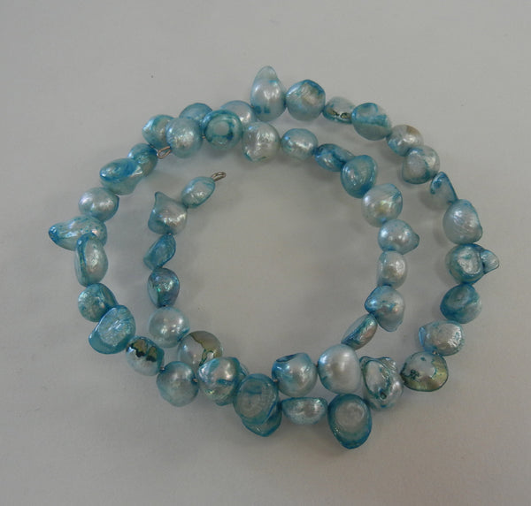 Dyed Cultured Pearl Azure Blue Bracelet