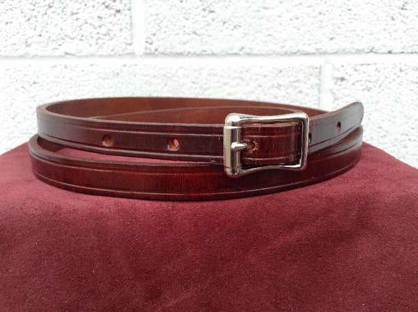 Traditional 1950's Retro style Mens Brown Belt