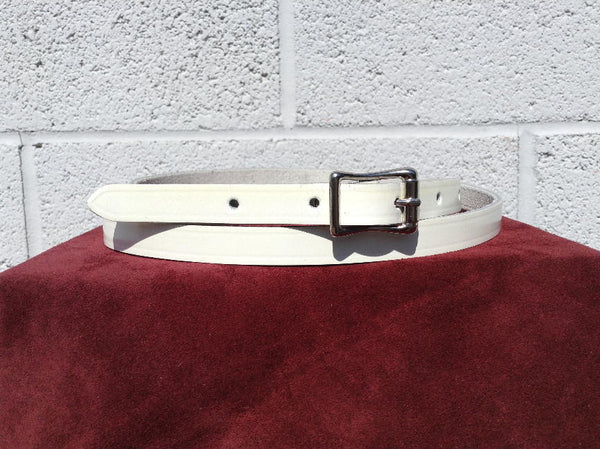 Traditional 1950's Retro style Mens White Belt