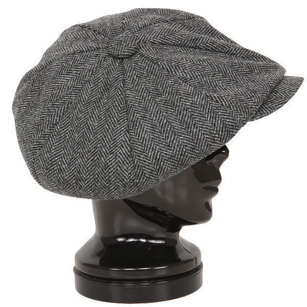 Cap Big Apple Newsboy Grey Herringbone