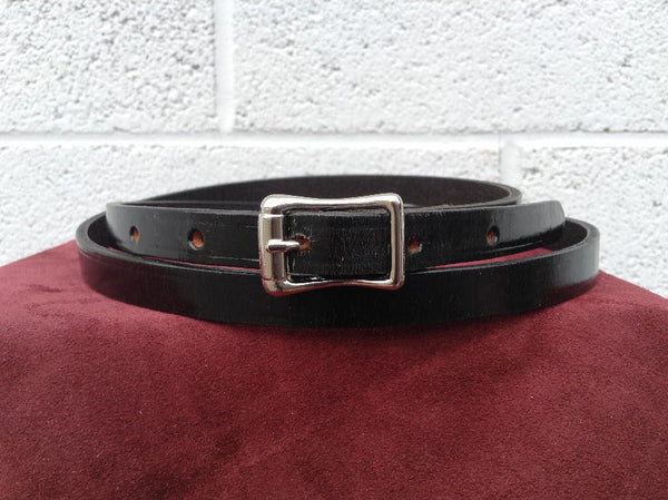 Traditional 1950's Retro style Mens Black Belt
